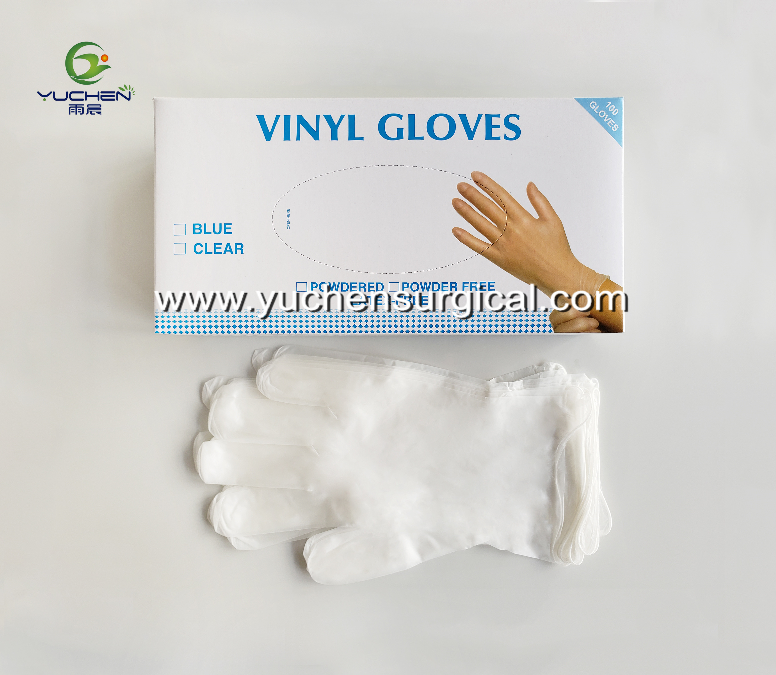 Powdered and powder free vinyl glove
